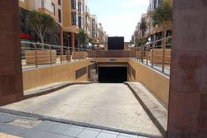 停车场/车库 进入 Arrecife, Lanzarote.