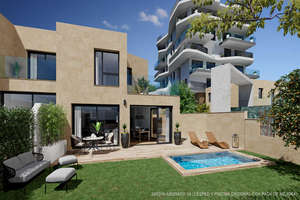 Rijtjeshuizen verkoop in Playa el Torres, Villajoyosa/Vila Joiosa (la), Alicante.